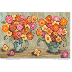 "Giclee Print: ""Two Bouquets of Flowers"""