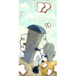 """Giclee Print: """"Landscape with Toasters"""""""