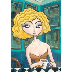 "Giclee Print on Canvas: ""Late Night Coffee"""