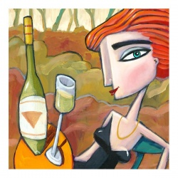 """Small 3D Graphic: """"Wine Tasting"""""""