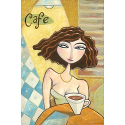 "Giclee Print on Canvas: ""Coffee Cafe"""