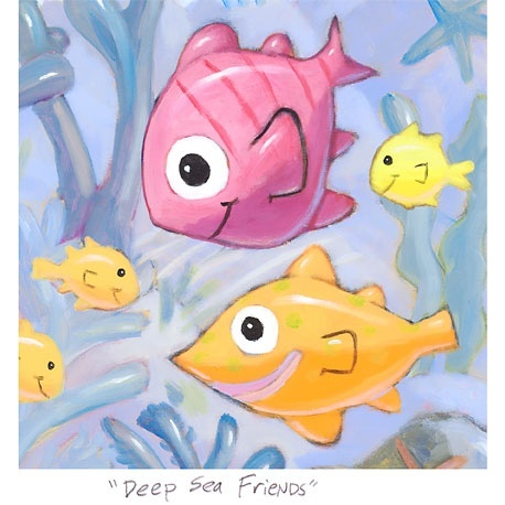 "Small 3D Graphic: ""Deep Sea Friends"""