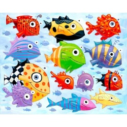 "Giclée-Print on Fine Art Paper: ""The Ocean is full of Colorful Fish"""
