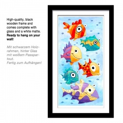 "Tall 3D Graphic: ""Six Colorful Fish"""
