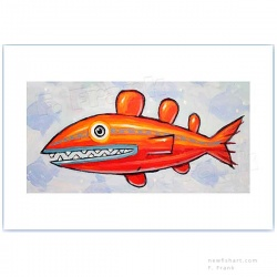 "Giclée-Print on Fine Art Paper: ""Red Racer"""