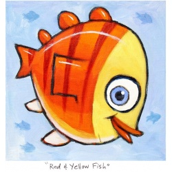 "Small 3D Graphic: ""Red & Yellow Fish"""