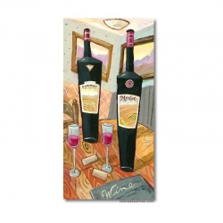 "Giclee Print: ""Wine Glasses on a Table"""