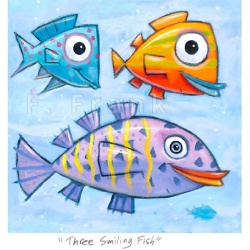 "Small 3D Graphic: ""Three Smiling Fish"""
