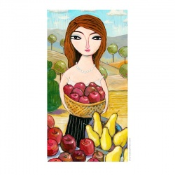 """Giclée-Print on Fine Art Paper: """"Picking Pears and Apples"""""""