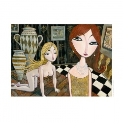 "Giclée-Print on Fine Art Paper: ""New Pearl Necklace"""