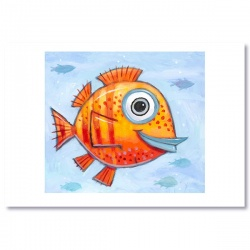 "Giclée-Print on Fine Art Paper: ""Smiling Red Fish"""