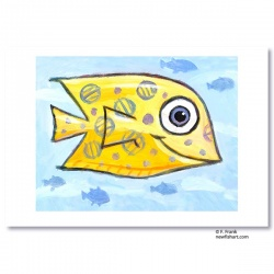 "Giclée-Print on Fine Art Paper: ""Yellow Fish"""