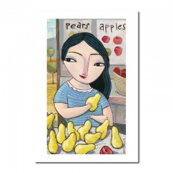 "Giclée-Print on Fine Art Paper: ""Pears-Apples"""