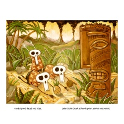 """Giclée-Print on Fine Art Paper: """"TheTiki God is Angry"""""""