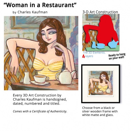 "Small 3D Graphic: ""Woman in a Restaurant"""