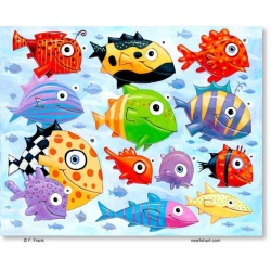 """Giclee Print: """"The Ocean is Full of Colorful Fish"""""""
