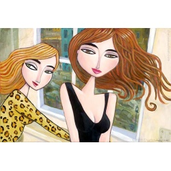 "Giclee Print on Canvas: ""Two Women in a Hotel in Berlin"""