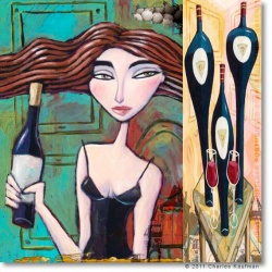 "Giclée Print on Canvas: ""Choose the Red Wine"""
